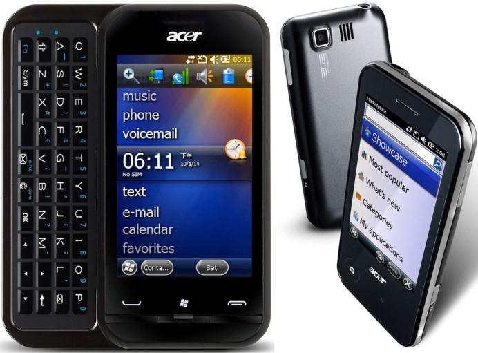 Os novos modelos Acer.