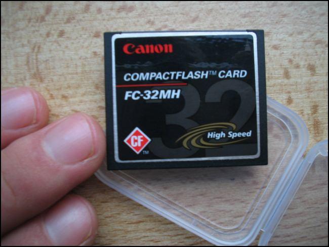 Cartão utilizando o padrão CompactFlash