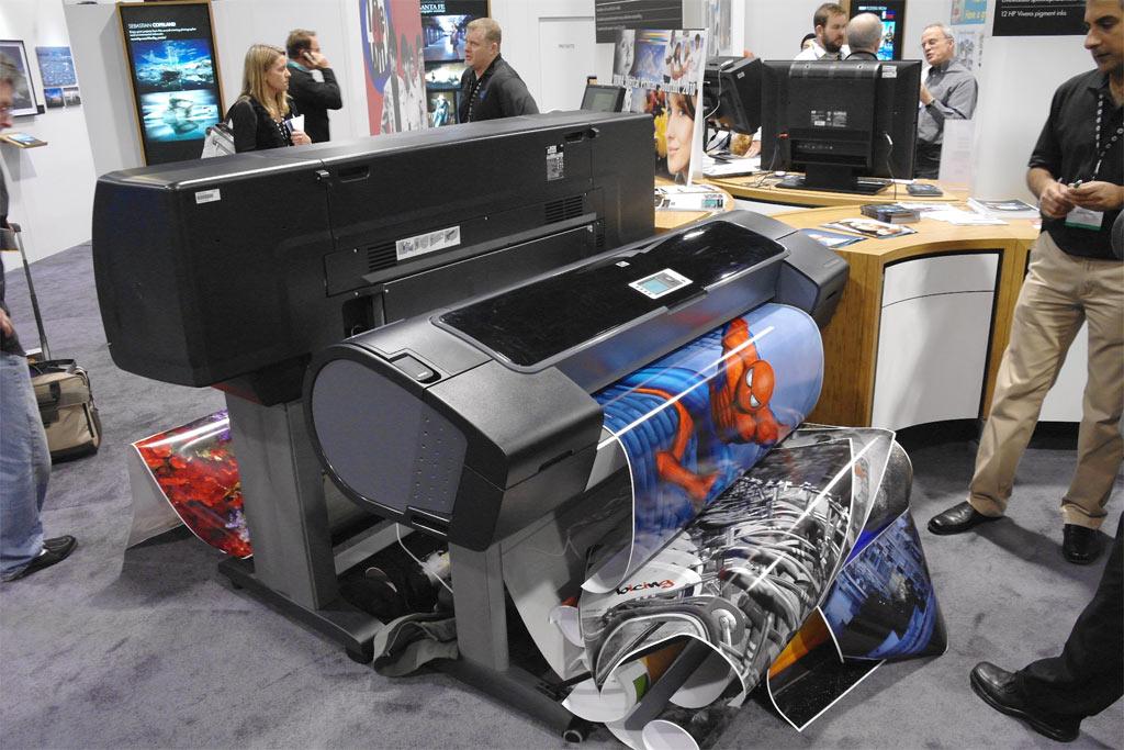 Equipamento de impressão em grandes formatos da HP