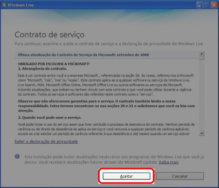 MSN O 2009 BAIXAR ATALHO DO