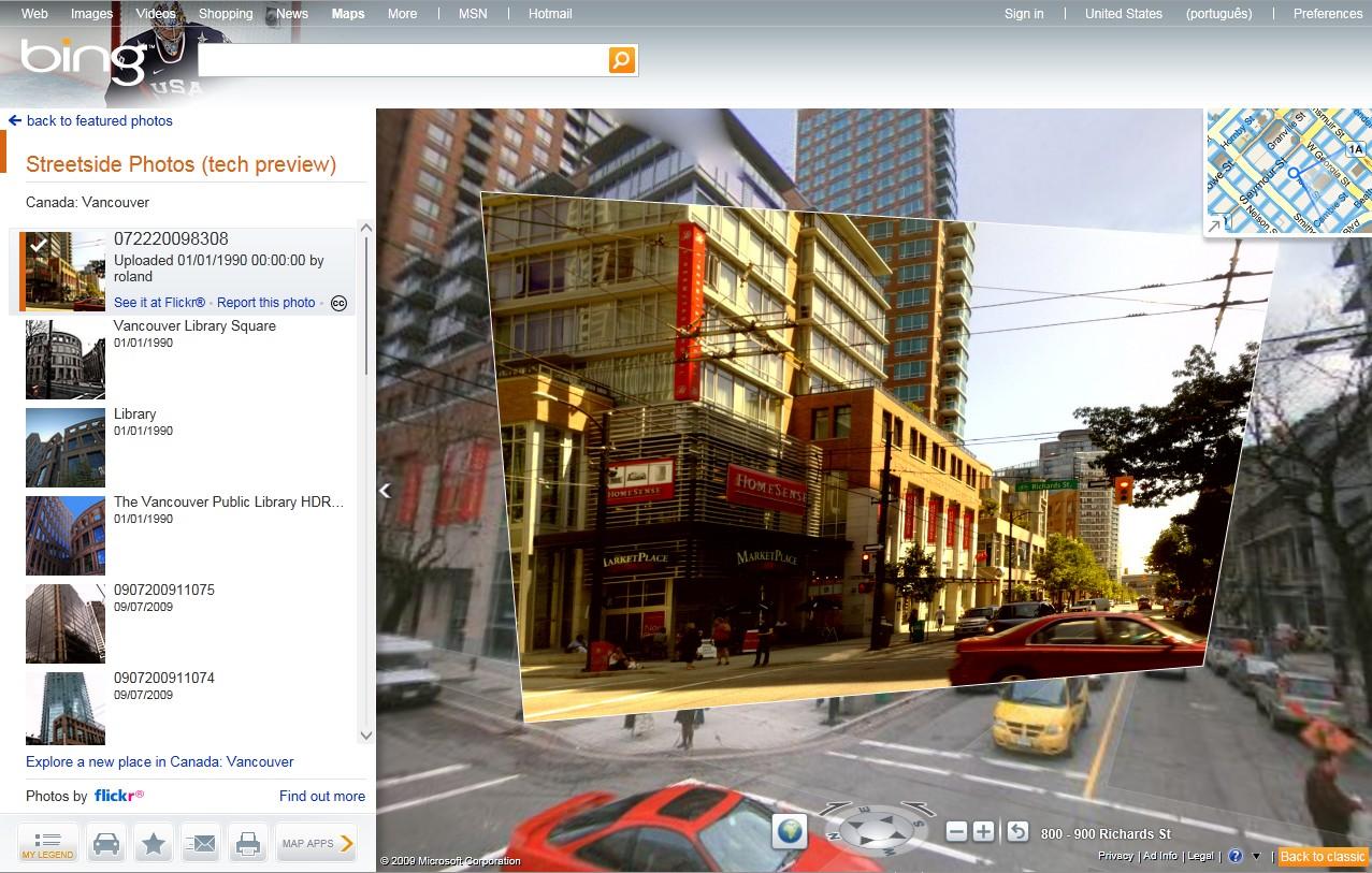 Integração Bing e Flickr
