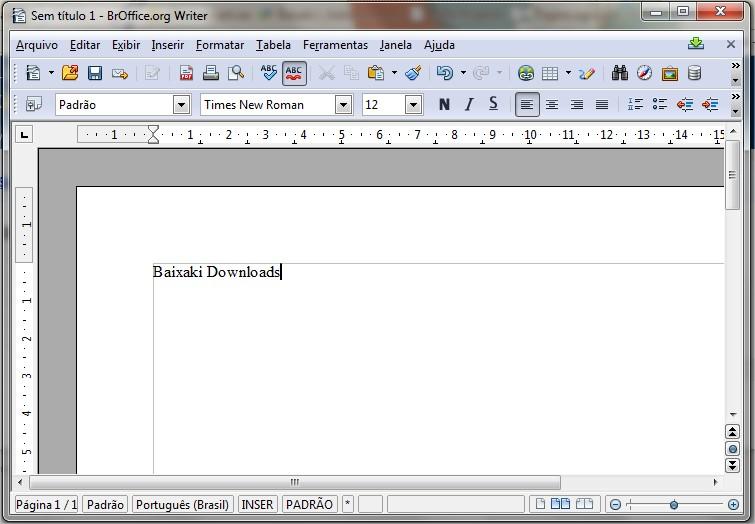 A margem do OpenOffice consegue localizar muito bem onde estão as bordas da página!