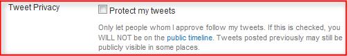 Proteção de tweets