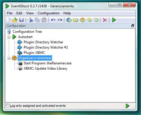Configurando o EventGhost para o XBMC.