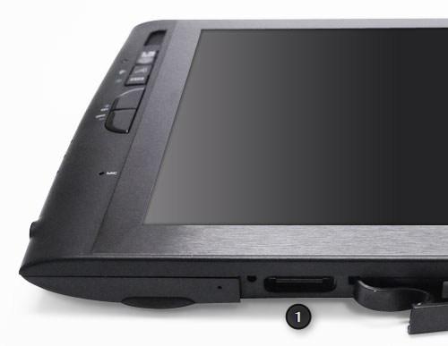 É possível adicionar um teclado externo no tablet.