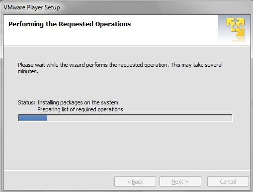 Instale o VMware
