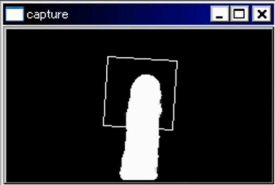 Interface do programa  que captura o movimento