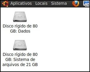 HDs inseridos como HD externo no Linux
