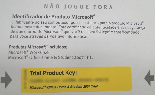 Você ganha um mês de Microsoft Office!