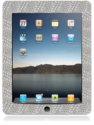 iPad com diamantes