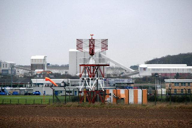 Radar no Aeroporto de Humberside, na Inglaterra