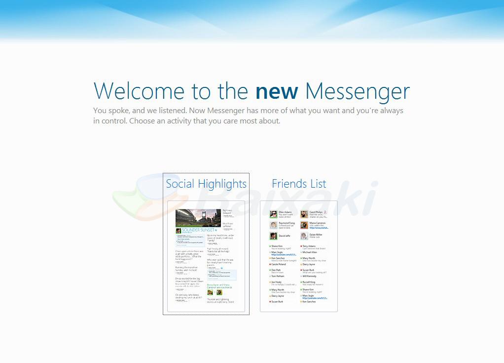 Conheça o novo Messenger!
