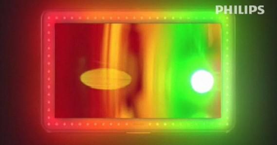 Philips Aurea - LEDs ao redor da tela e moldura transparente