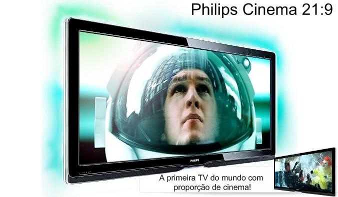 Proporção de cinema e tecnologia Ambilight Spectra