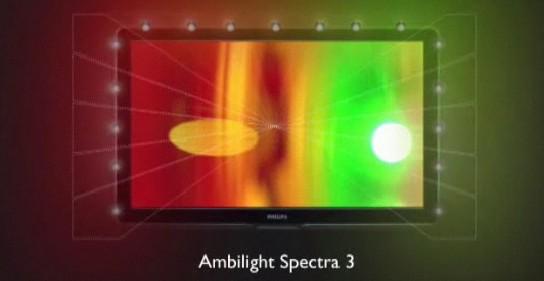 Ambilight Spectra 3 - LEDs dos lados e em cima da tela