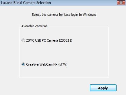 Escolha a webcam