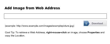 Adicionar imagem da web.