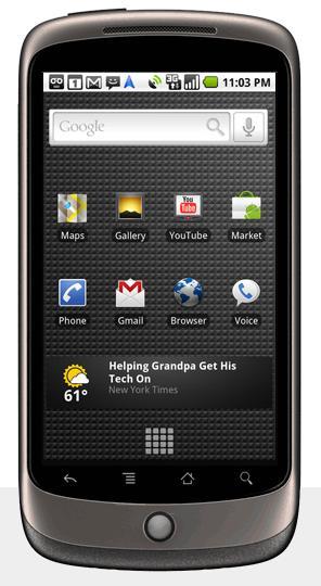 Google Nexus One, feito em parceria com a HTC