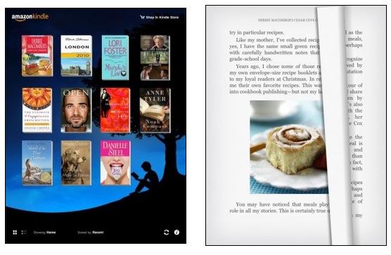 Amazon Kindle no  iPad
