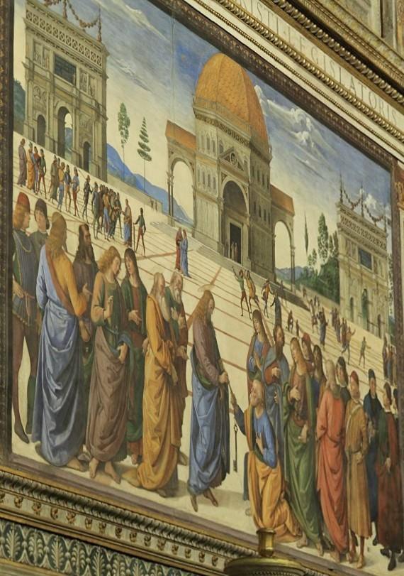 A Entrega das Chaves  a São Pedro, de Pietro Perugino.