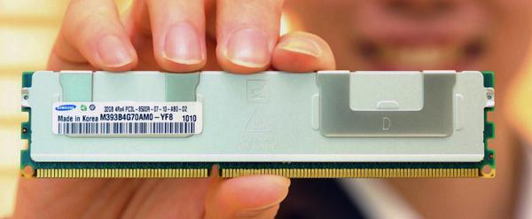 Pente de memória com 32 GB de capacidade da Samsung