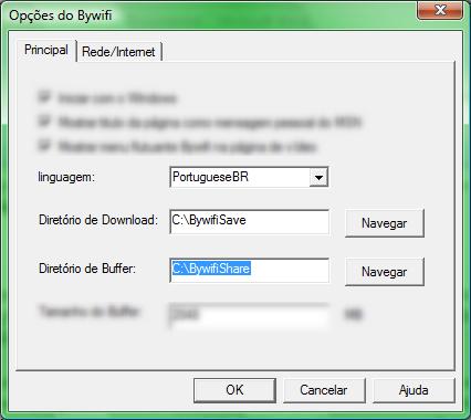 Configure os locais para transferência do Bywifi