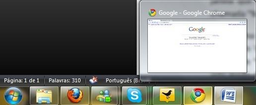 Seu Chrome será pré-visualizado assim!
