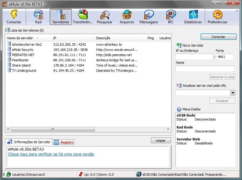server emule 0.50 gratis