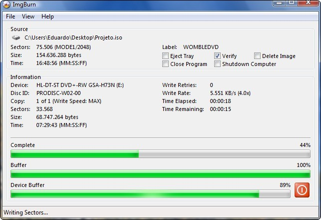 Create bootable usb drive for windows 7 iso from dvd with imgburn