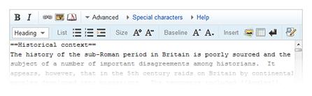 Nova barra de ferramentas para editar artigos. Imagem: Divulgação