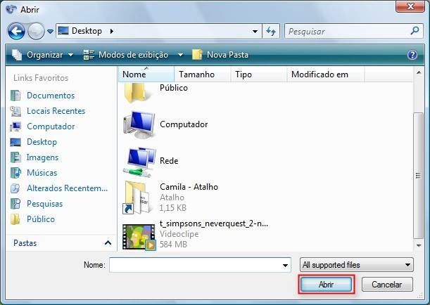 Abrir o arquivo