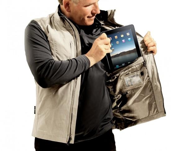 Colete com bolso para o iPad