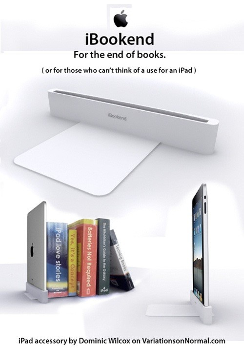 iBookEnd, uma brincadeira