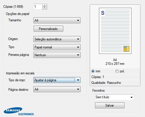 Ajuste o tamanho da página