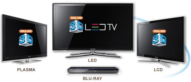 A Samsung lancará vários modelos de TVs 3D