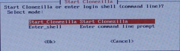 Iniciar o Clonezilla