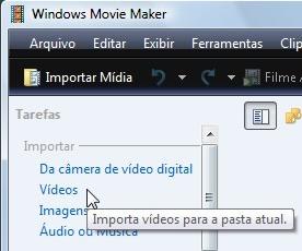 Importe seu vídeo