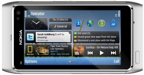 Homescreen do Nokia N8