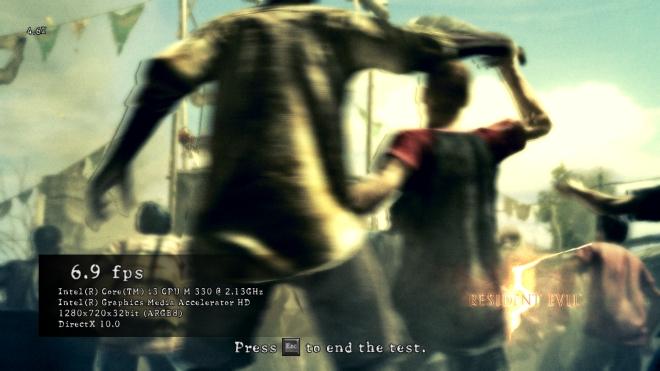 Resultado da análise com Resident Evil