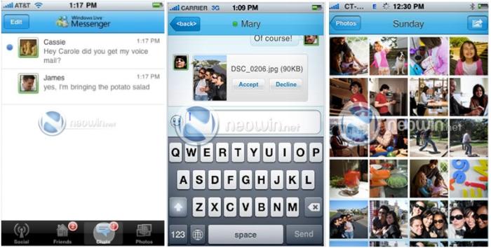 O MSN que conhecemos direto no iPhone.