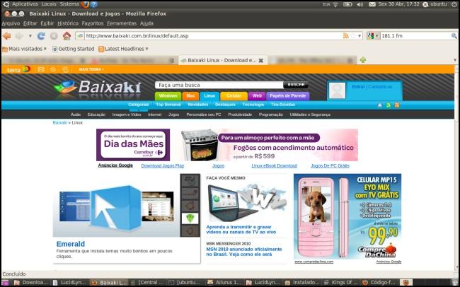 O Baixaki na nova versão do Ubuntu