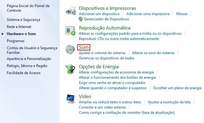 b5f88ff6a6597 2) Outra forma de acessar as opções de áudio é clicar sobre o ícone exibido  na Área de Notificação do Windows com o botão direito do mouse e selecionar  a ...