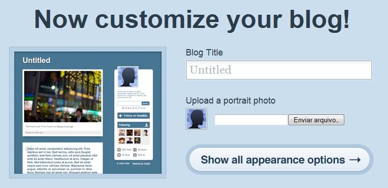 Crie seu Tumblr!