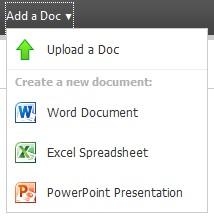 Adicionar ou criar documentos