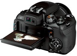 FinePix HX10, da Fuji. Visor LCD de 3