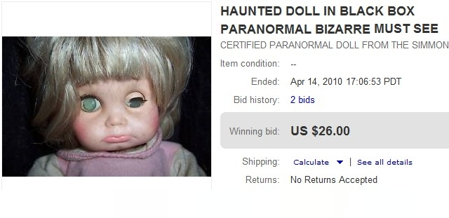 Até  parece que alguém vai comprar uma boneca assim...