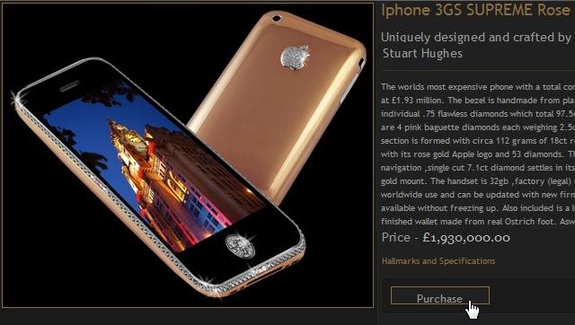 iPhone de diamante que vale mais do que dinheiro
