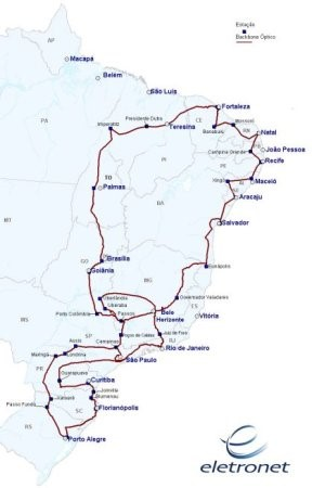 O mapa das redes de fibra ótica