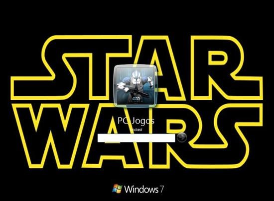 Tela de login Star Wars
