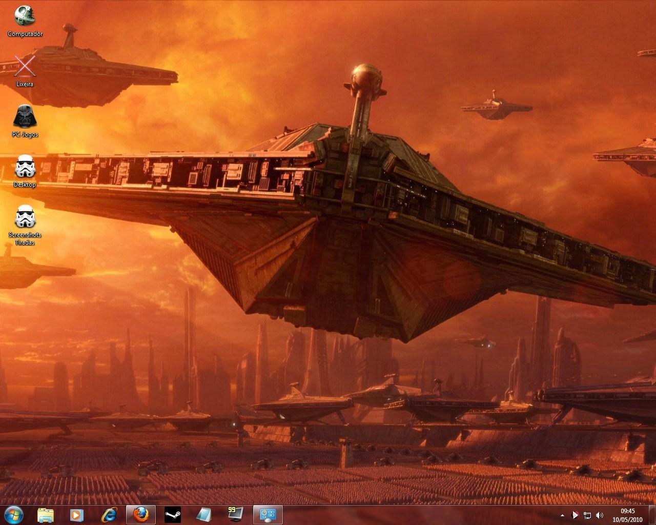 Área de trabalho de um Lorde Sith